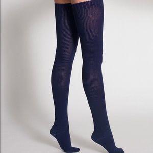 American Apparel Accessories - American Apparel Navy Thigh High Socks
